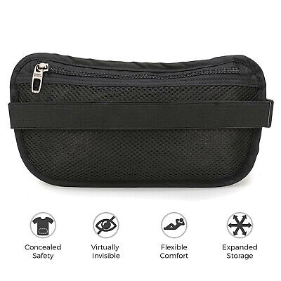 Slim Design Bumbag RFID Running Belt Water-proof Adjustable Waist Bag Travelling 3