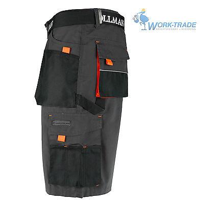Arbeitshose Kurze Hose Kurz Bermuda Shorts Grau Schwarz Orange Gr. S-XXXL