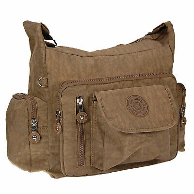 Bag Street Damenhandtasche Umhängetasche Tasche Farbwahl Nylon 22x14x9 OTJ229X