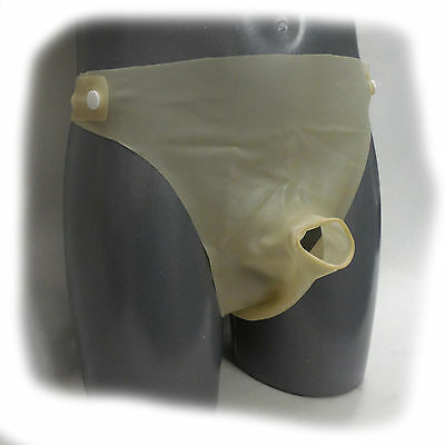 Latex Condom slip ouvert  Size: M  Das erotische Etwas Schwarz  (627) 4
