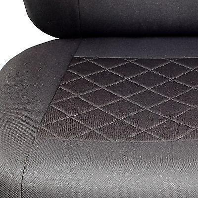 Schwarz-graue Dreiecke Sitzbezüge für HYUNDAI i40 Autositzbezug VORNE