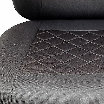 Schwarz-graue Dreiecke Sitzbezüge für OPEL MERIVA Autositzbezug VORNE