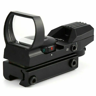 Red Dot Sight Reflex Green Holographic Scope Tactical Rifle Mount 20mm Rails BLK 2