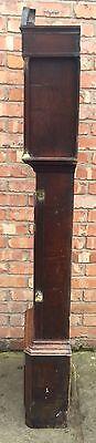 Antique Oak & Mahogany Longcase Grandfather Clock 8 Day 9