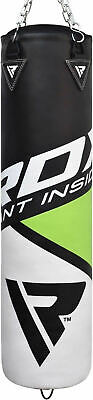 RDX Leather Punching Bag Stand Unfilled Training Mitts MMA Gloves Chains Green 2