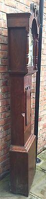 Oak & Mahogany 8 Day Inlaid And Cross Banded Long Case Grandfather Clock 7