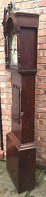 Oak & Mahogany 8 Day Inlaid And Cross Banded Long Case Grandfather Clock 6