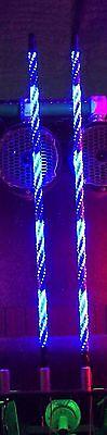 PAIR 2/' TWISTED EXTREME DREAM LED LIGHT WHIP ATV UTV SXS RZR CAN AM