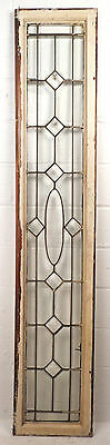 Tall Vintage Stained Glass Window Panel (1693)NJ 2