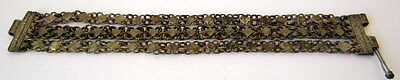 ANTIQUE 1800 s. SILVER KNITTED THREE ROWS LADY BRACELET  #  75A 10