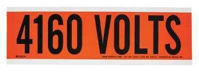 BRADY 44122 Voltage Card,1 Marker,4160 Volts 2