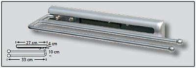 Badezimmer-Handtuchhalter Handtuchhalter 2-armig 37cm chrom ...