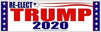 "ORIGINAL TRUMP 2020 Bumper Sticker $3.00 3""x10""-Buy 2 Get 1 FREE, FREE Shipping!"