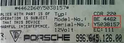 PORSCHE RADIO CODE Reset Boxster Becker Decoder Security Unlock Codes