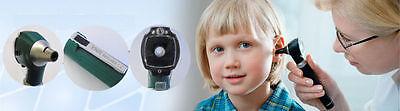 F.O Otoscope Ophthalmoscope Opthalmoscope Examination LED Diagnostic ENT SET Kit 3