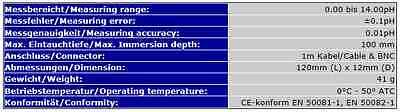 Ph Elektrode Probe Controller Aqua Medic Dennerle Dupla *zodiac Ph Perfect* S17 3