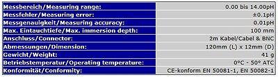 Dauermessung Ph-Elektrode Ph-Meter Ph *2Meter* Bnc Messgerät Meter   S01 5