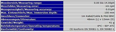 *mini-Bnc* Ph-Elektrode Ph-Meter Ph Meter Messgerät Ersatzelektrode Ersatz  S12 5