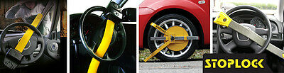 Stoplock Pro Elite Yellow Anti Theft Security Steering Wheel Lock to fit Audi A6 12