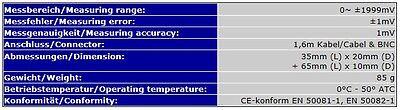 Mini Redox-Elektrode/sonde (Wasserdicht, Bnc, 1,6M Kabel) Redox-Prüfer S16 5