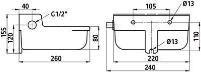 Schwimmertränkebecken SN190  Niederdrucktränke Tränkebecken Tränke Niederdruck
