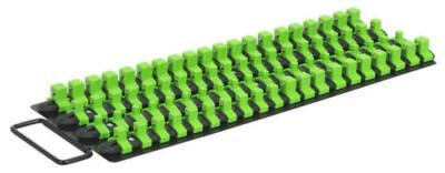 Socket Tray Rail Holder Bright Green Black Hi Vis Clipboard Hanging  440MM LONG 2