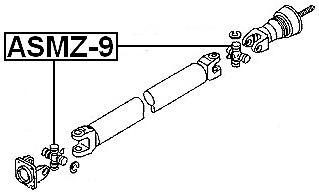 Fits KIA SPORTAGE Universal Joint Uni Joints Drive Shaft 26.5 ...