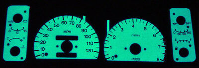 Expedition White Blue Green Glow Gauges Face Overlay 97~98 Ford F150