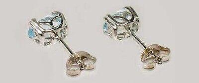 2 Antique 19thC 1ct Topaz Ancient Persian Magic Amulet Gemstones Sterling Studs 4