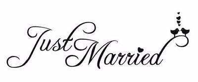 Just Married Aufkleber Hochzeit LIEBE Endlosschleife Sticker Auto FOIL00183
