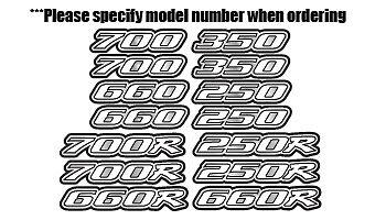 Raptor Yamaha White/Silver Full Color 16pc Quad ATV Decal Sticker Graphics 660R