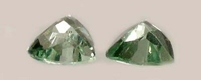 2 Antique 19thC ¼ct Apatite Dinosaur Gem + Vertebrate Bones Greek Goddess Apate 4