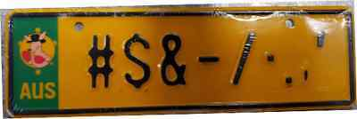 Customised Custom made Novelty Embossed Number Plates, Kids, Bike, Plates