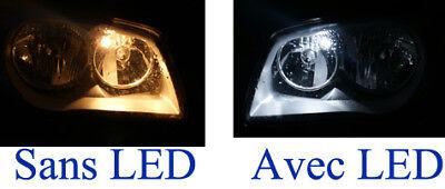 Ampoules LED Blanc Pour Peugeot 206 plaque immatriculation plafonnier veilleuses 2