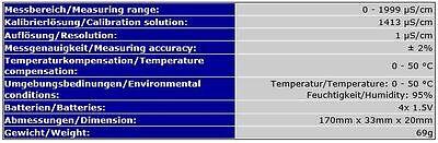 Ec-Messgerät Leitfähigkeitstester Prüfer Leitwert Wasserkonzentration Tds Ec7 3