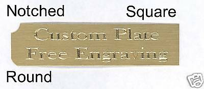 """Engraved Plate art-trophy-Taxidermy 3""""x5"""" Brass 2"""