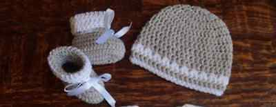 95cefe1e7c2ba KNIT/CROCHET PERSONALIZED BABY Blanket, Hat and Booties (light gray 33x33)