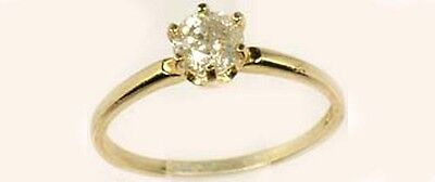 Antique 19thC ½ct Siberia Diamond Medieval Royal Gem Fearless Virtue Emblem 14kt 2