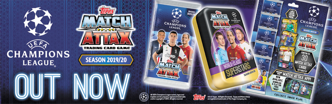 2019-20 Topps Match Attax Champions League Box 30 Packs 180 Cards Total In Stock 2