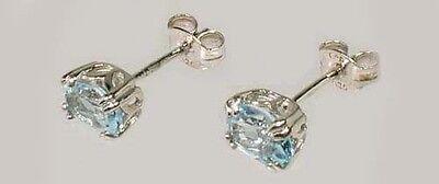 2 Antique 19thC 1ct Topaz Ancient Persian Magic Amulet Gemstones Sterling Studs 2