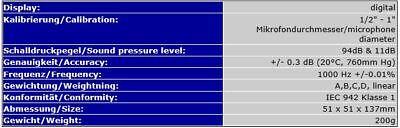 Digital Acoustic Calibrator Sound Generator Sound Level Tester Meter Sp6 4