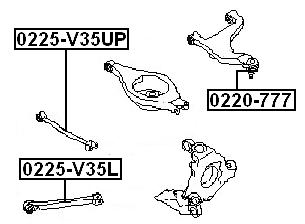 Febest 0220-A60 BALL JOINT REAR UPPER ARM