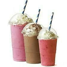 1000 Milkshake & Smoothie Cups With Dome Lids 6