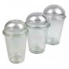 1000 Milkshake & Smoothie Cups With Dome Lids 2