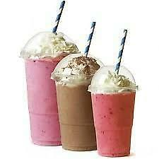 100 Smoothie Milkshake  Plastic Cups 16 Oz With A Dome Lids 5