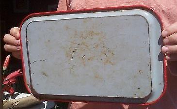 Vintage Meyer Farm Implement Advert Tray Montevideo MN Minn John Deere logo Sign