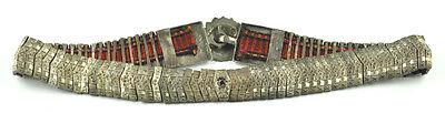 Amazing Silver 19c Ottoman Turkish Folk Handmade Belt Buckle Vintage Antique