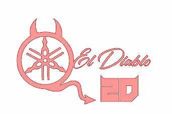 STICKER FABIO QUARTARARO EL DIABLO ROUGE  dim 1sticker 52x100mm