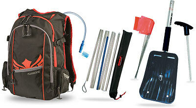 Snowmobile Backpack With Hydration System, Shovel W/saw & Avalanche Probe