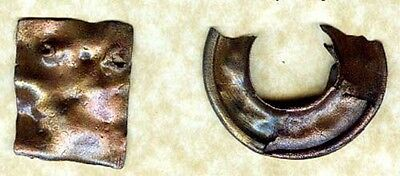 Genuine Ancient Roman Thrace (Bulgaria) Bronze Jewelry Bracelet Pin Plaque AD300 2